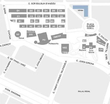 Mapa Campus Nord Institut De Ciencies De L Educacio Upc